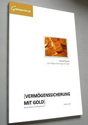 """Kostenloser Spezial-Report """"Vermögenssicherung mit Gold"""""""
