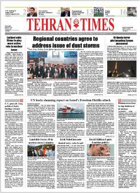 Titelblatt der Theran Times vom 30. September 2010
